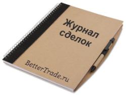 Журнал сделок трейдера (биржевой торговый дневник)